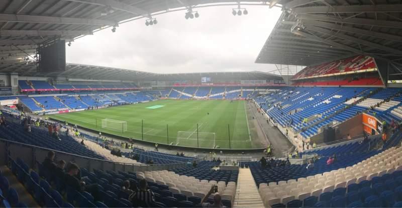Vista sentada para Cardiff City Stadium Secção 122