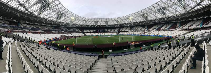 Vista sentada para London Stadium Secção 119 Fila 13