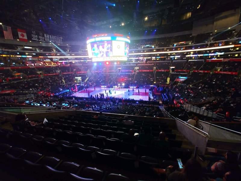 Vista sentada para Staples Center Secção PR13 Fila 10 Lugar 3