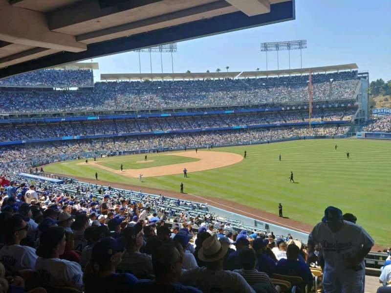 Vista sentada para Dodger Stadium Secção 162LG Fila S Lugar 1
