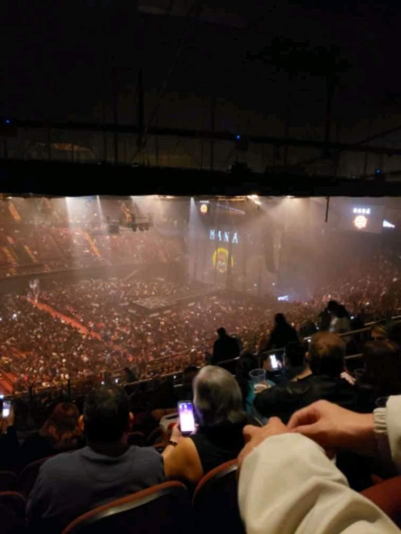 Vista sentada para The Forum Secção 206 Fila 18 Lugar 8