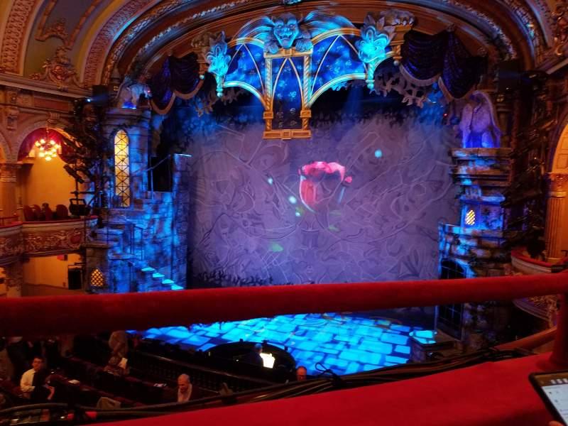 Vista sentada para Fulton Opera House Secção Mezzanine Fila A Lugar 16
