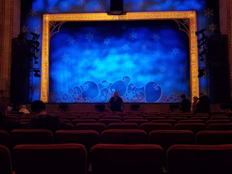 Vista sentada para Hershey Theatre Secção Orchestra Center Fila L Lugar 107