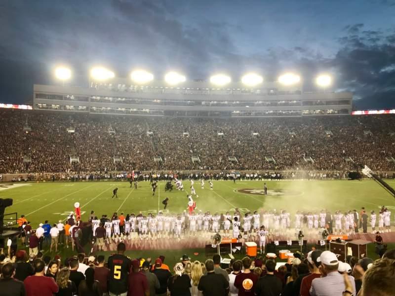 Vista sentada para Bobby Bowden Field at Doak Campbell Stadium Secção 11 Fila 19 Lugar 26