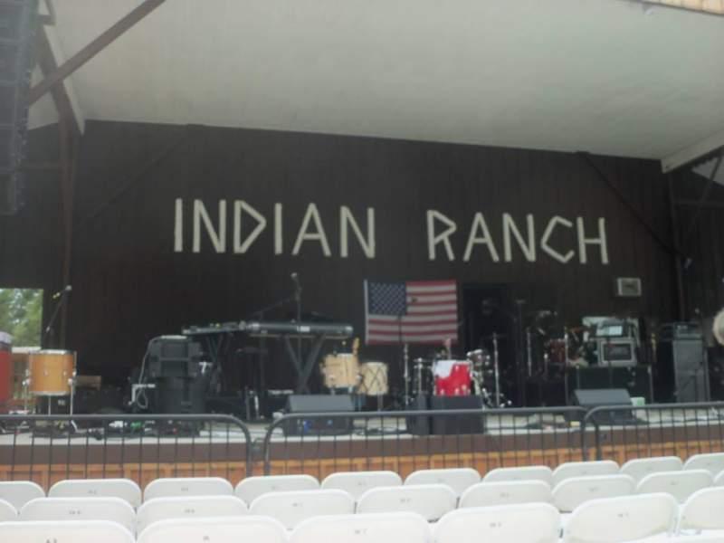 Vista sentada para Indian Ranch Secção Floor Left Fila 6A Lugar 8
