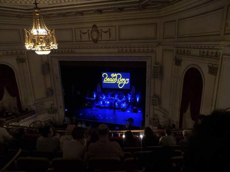 Vista sentada para Wilbur Theatre Secção Balcony Fila F Lugar 16