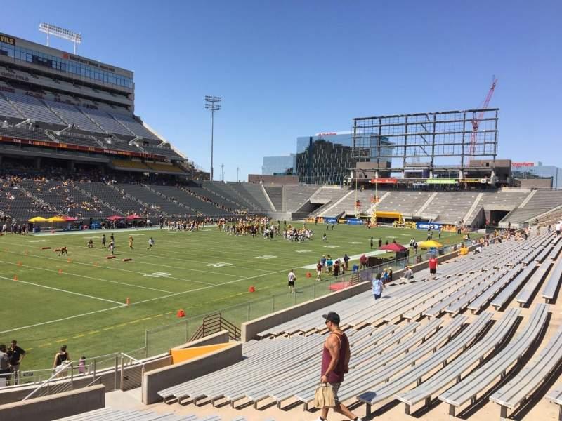 Vista sentada para Sun Devil Stadium Secção 35 Fila 25 Lugar 12