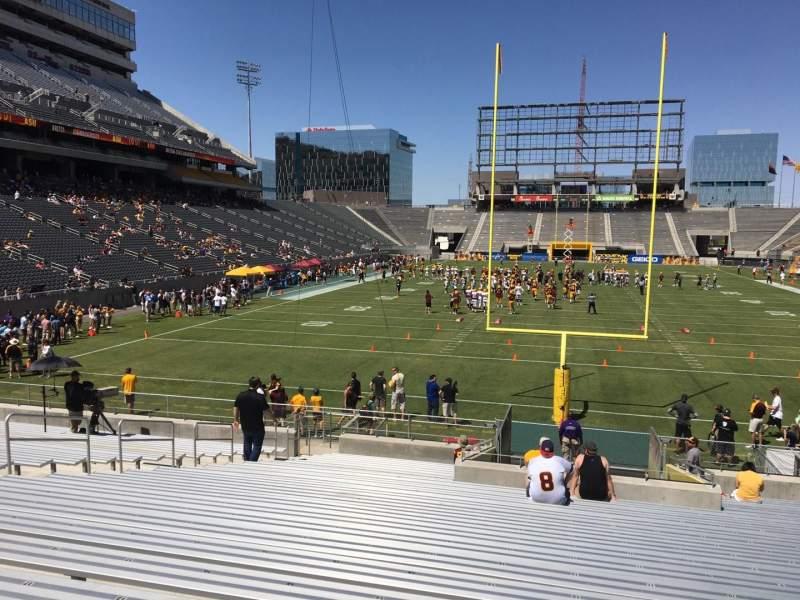 Vista sentada para Sun Devil Stadium Secção 41 Fila 25 Lugar 12