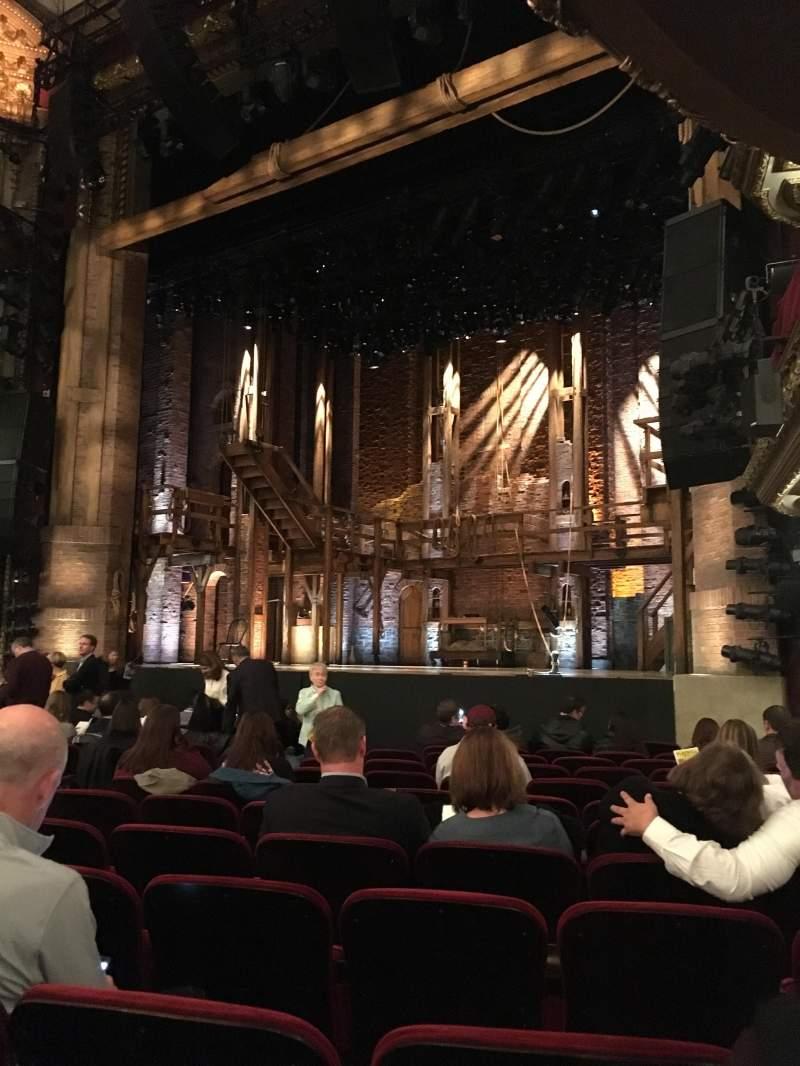 Vista sentada para CIBC Theatre Secção Orchestra R Fila N Lugar 18