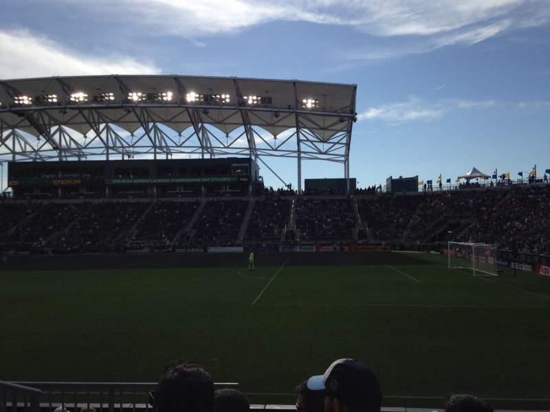 Vista sentada para Talen Energy Stadium Secção 123 Fila H Lugar 13