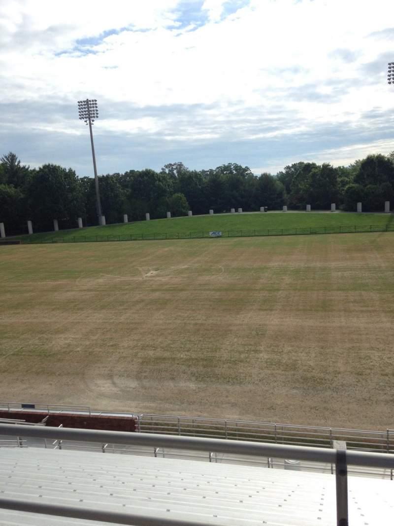 Vista sentada para Klockner Stadium Secção 2 Fila Y Lugar 11