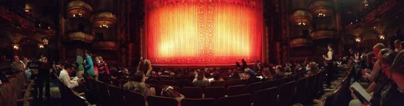 Vista sentada para New Amsterdam Theatre Secção Orchestra C Fila J Lugar 107