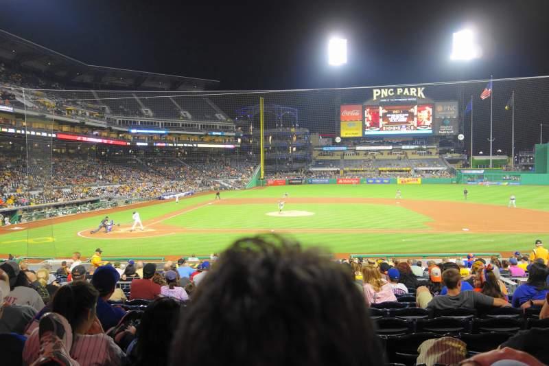 Vista sentada para PNC Park Secção 112 Fila M Lugar 7