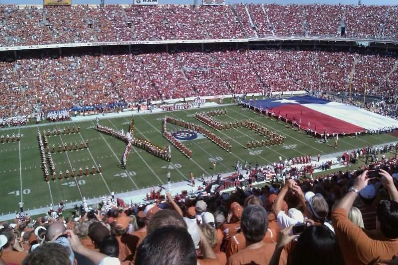 Vista sentada para Cotton Bowl Secção 108 Fila 32 Lugar 21