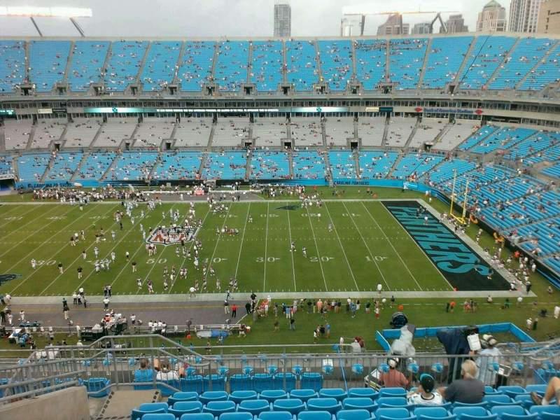 Vista sentada para Bank of America Stadium Secção 541 Fila 15 Lugar 20