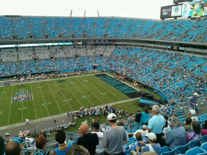 Vista sentada para Bank of America Stadium Secção 514 Fila 10 Lugar 17
