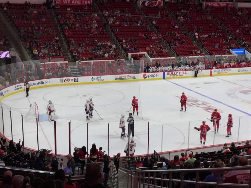 Vista sentada para PNC Arena Secção 123 Fila Z Lugar 1