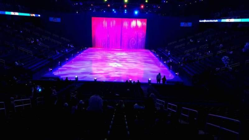 Vista sentada para Greensboro Coliseum Secção 117 Fila box Lugar box