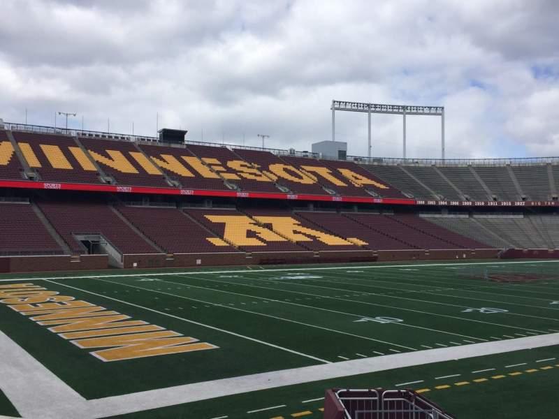 Vista sentada para TCF Bank Stadium Secção 126 Fila 10 Lugar 16