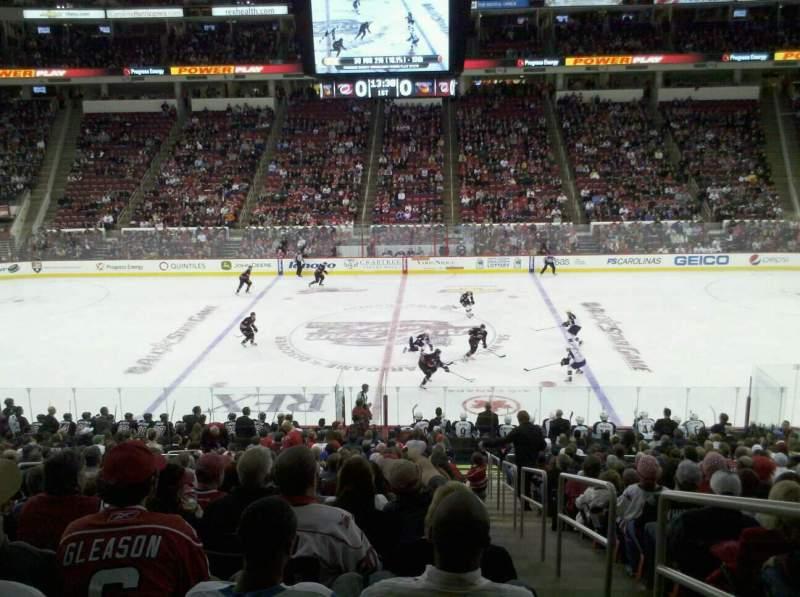 Vista sentada para PNC Arena Secção 104 Fila R Lugar 1