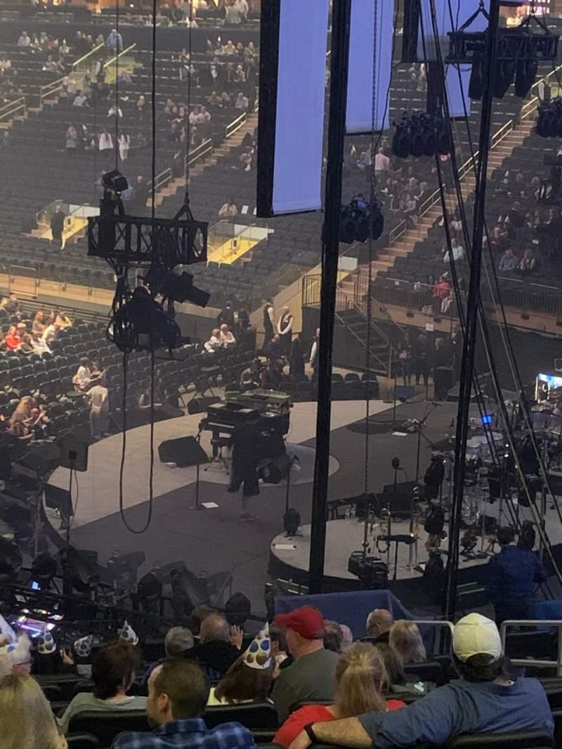 Vista sentada para Madison Square Garden Secção 110 Fila 22 Lugar 21