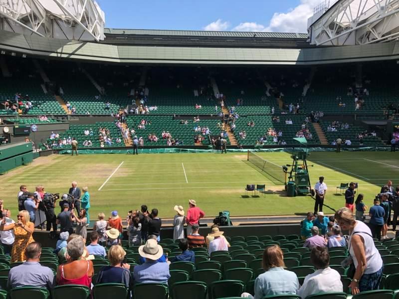 Vista sentada para Wimbledon, Centre Court Secção 204 Fila A Lugar 87