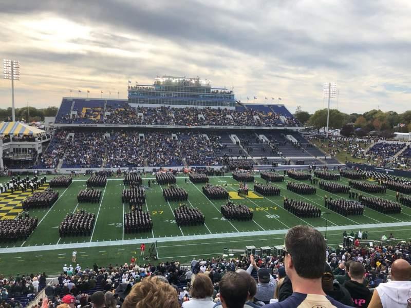 Vista sentada para Navy-Marine Corps Memorial Stadium Secção 131 Fila 9 Lugar 19