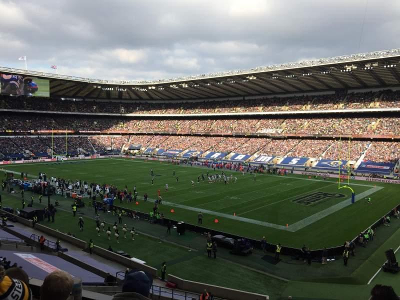 Vista sentada para Twickenham Stadium Secção M1 Fila 54 Lugar 384