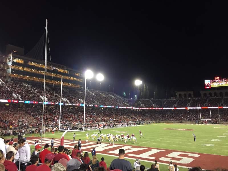 Vista sentada para Stanford Stadium Secção 101 Fila N Lugar 8