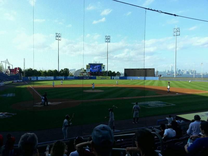 Vista sentada para Richmond County Bank Ballpark Secção 10 Fila L Lugar 3