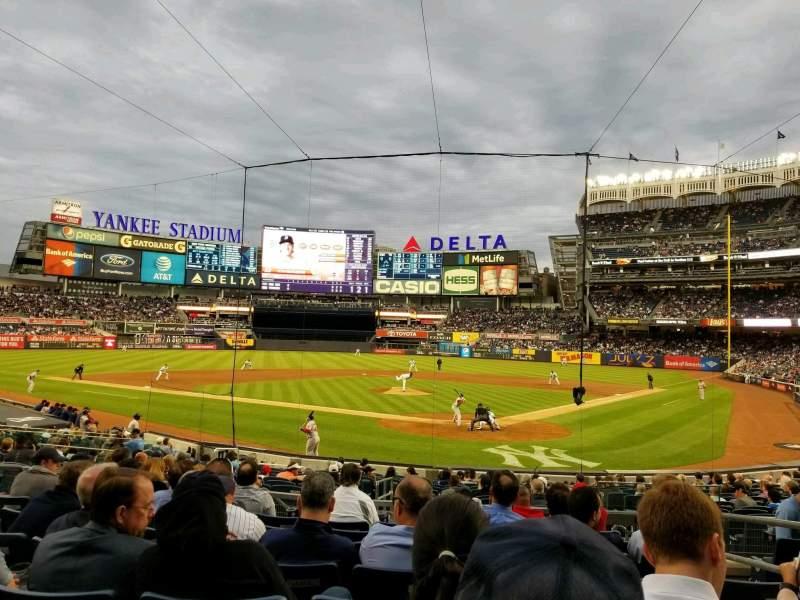 Vista sentada para Yankee Stadium Secção 121a Fila 8 Lugar 4