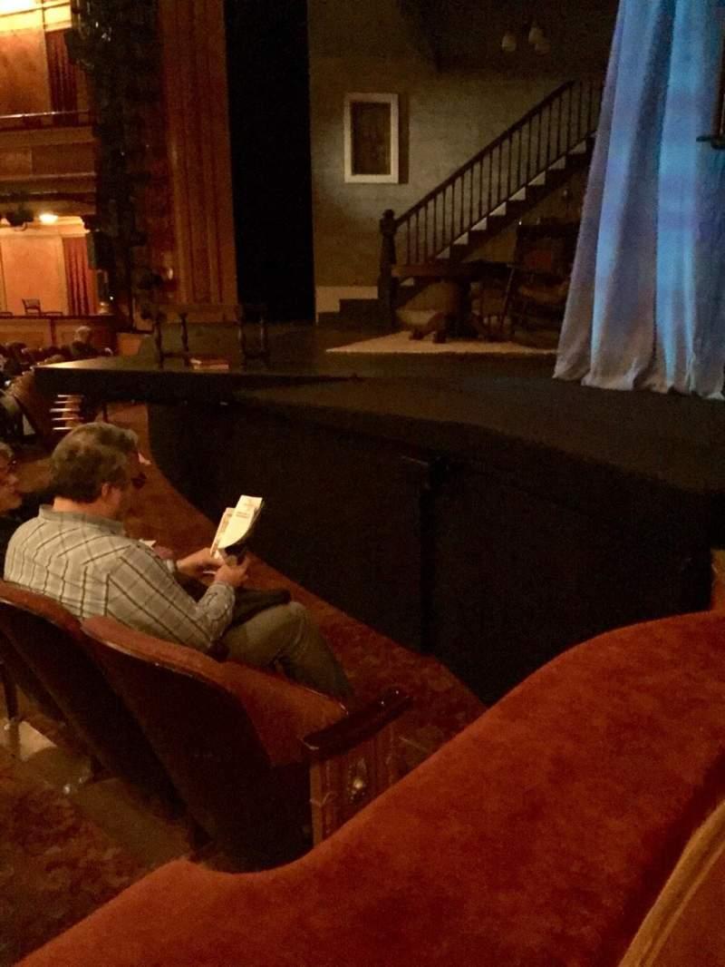 Vista sentada para American Airlines Theatre Secção Left Box Fila BB Lugar 1