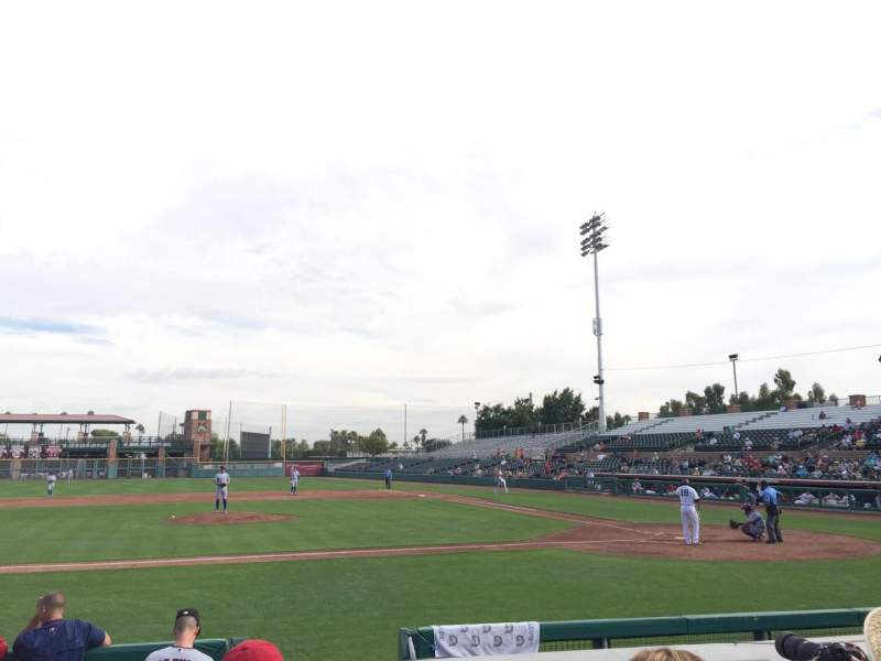 Vista sentada para Scottsdale Stadium Secção 111 Fila F Lugar 5