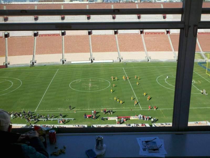 Vista sentada para Los Angeles Memorial Coliseum Secção Press Box Lugar 239