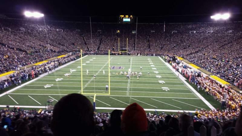 Vista sentada para Notre Dame Stadium Secção 118 Fila wc Lugar 9
