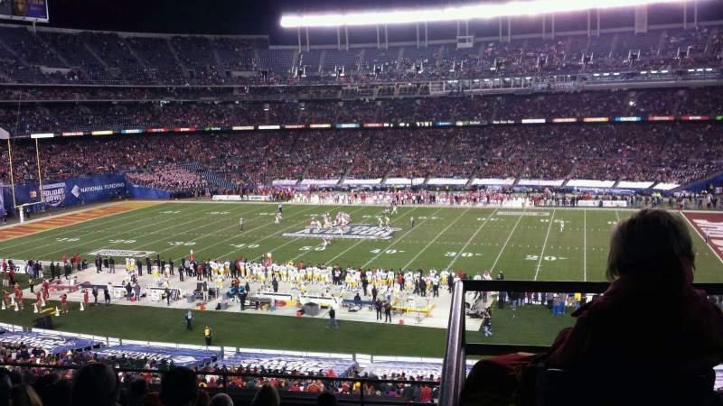 Vista sentada para San Diego Stadium Secção C Fila 9 Lugar 1