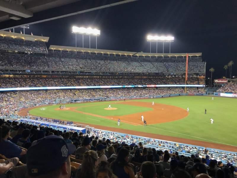 Vista sentada para Dodger Stadium Secção 150LG Fila P Lugar 5