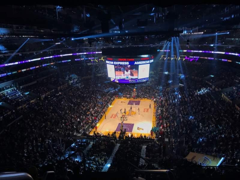 Vista sentada para Staples Center Secção 308 Fila 7 Lugar 26