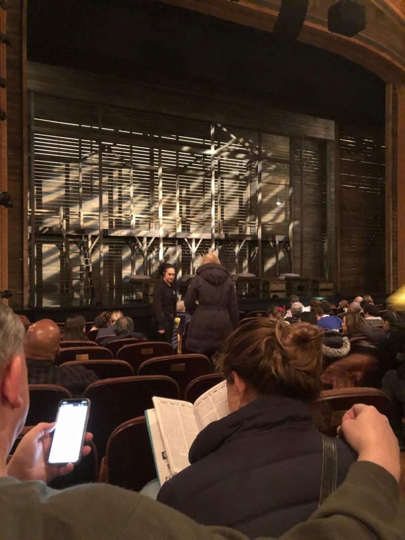 Vista sentada para American Airlines Theatre Secção Orchestra L Fila K Lugar 5