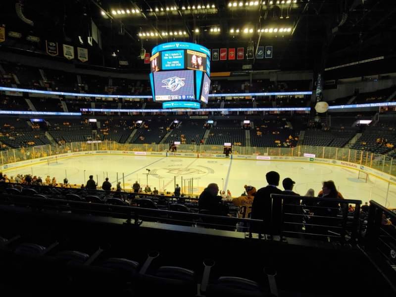 Vista sentada para Bridgestone Arena Secção 106 Fila L Lugar 1