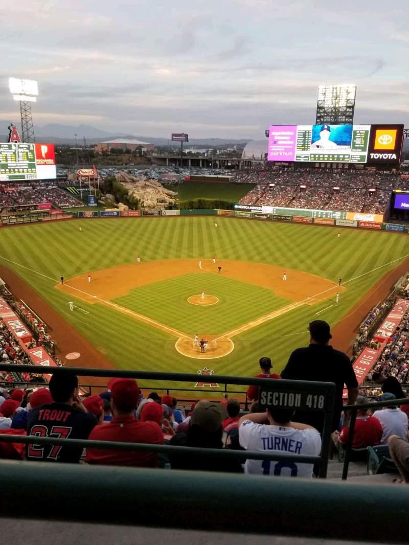 Vista sentada para Angel Stadium Secção V520 Fila A Lugar 11