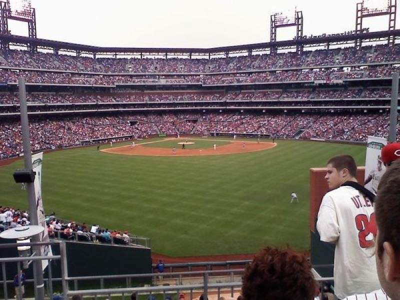 Vista sentada para Citizens Bank Park Secção Bud Light Bleachers