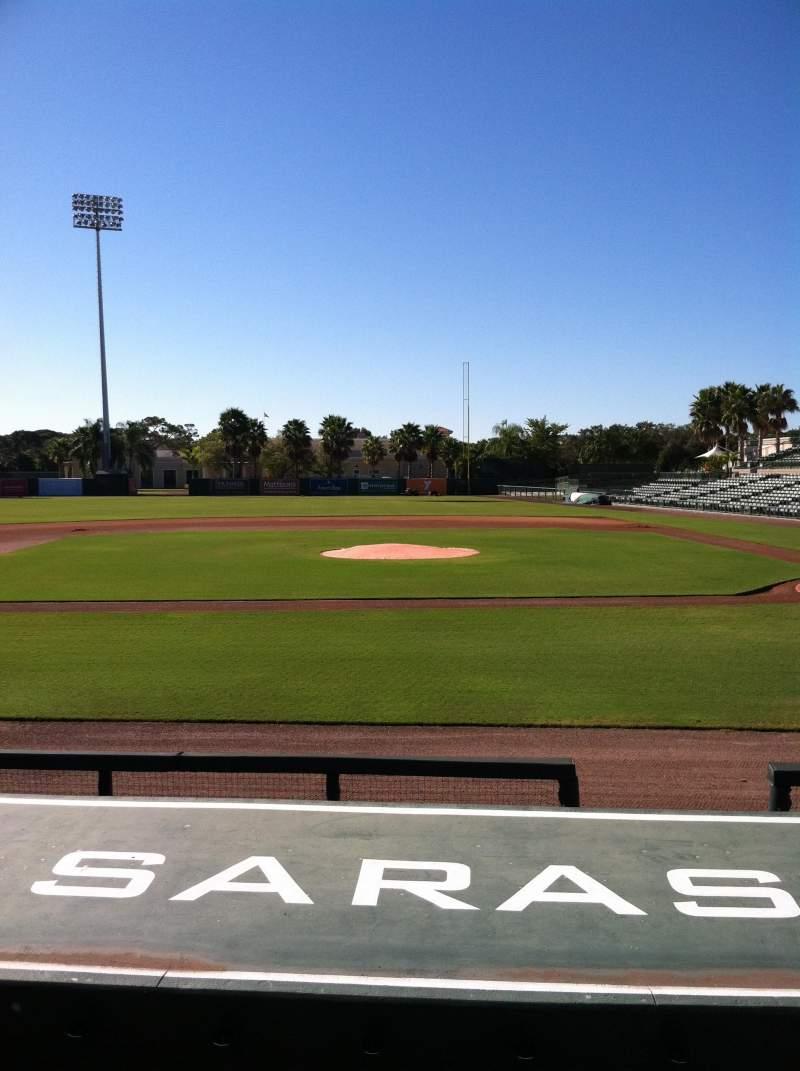 Vista sentada para Ed Smith Stadium Secção 117 Fila 9 Lugar 5