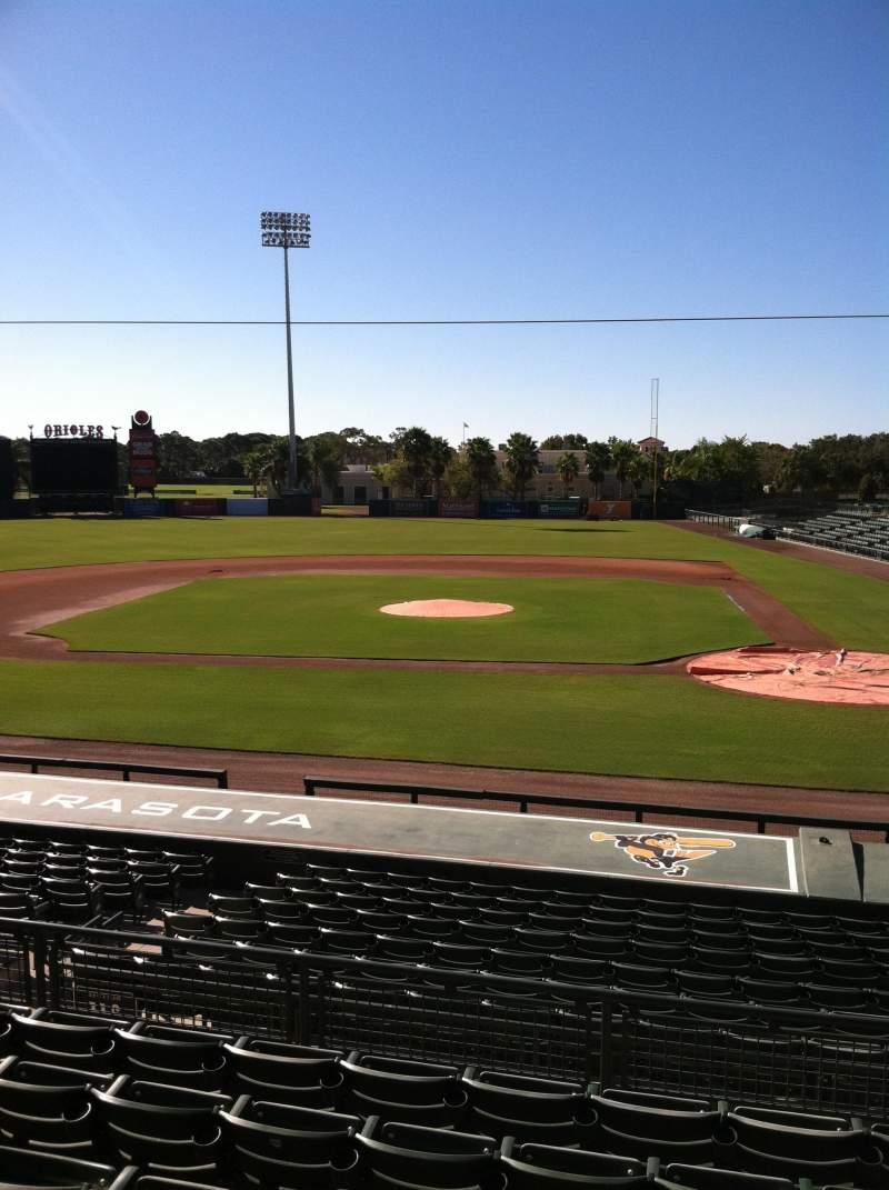 Vista sentada para Ed Smith Stadium Secção 216 Fila 7 Lugar 12