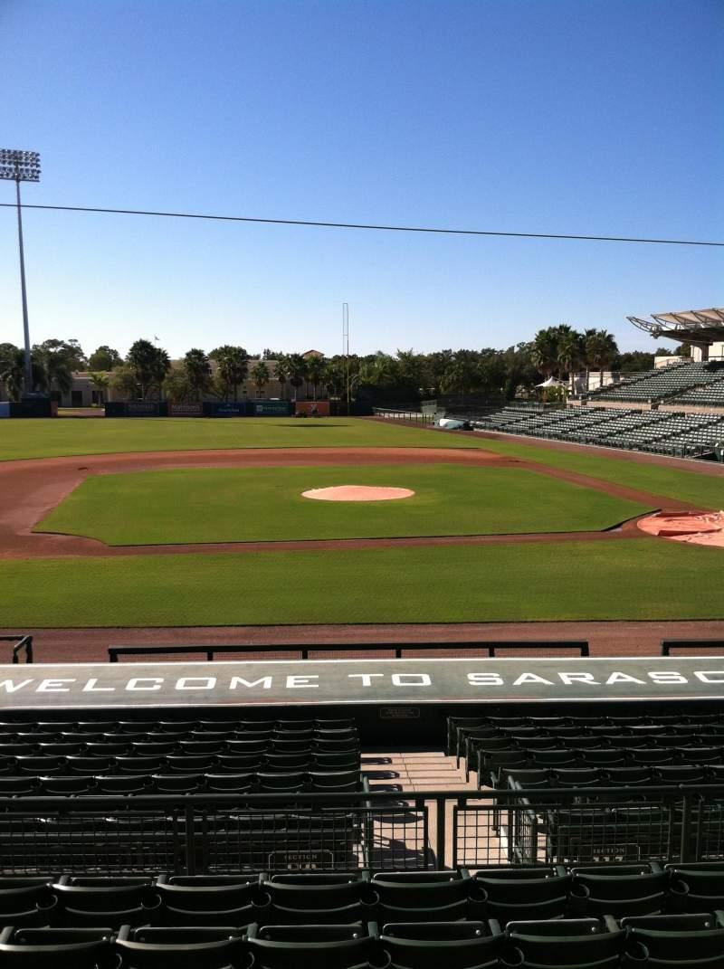 Vista sentada para Ed Smith Stadium Secção 217 Fila 7 Lugar 12