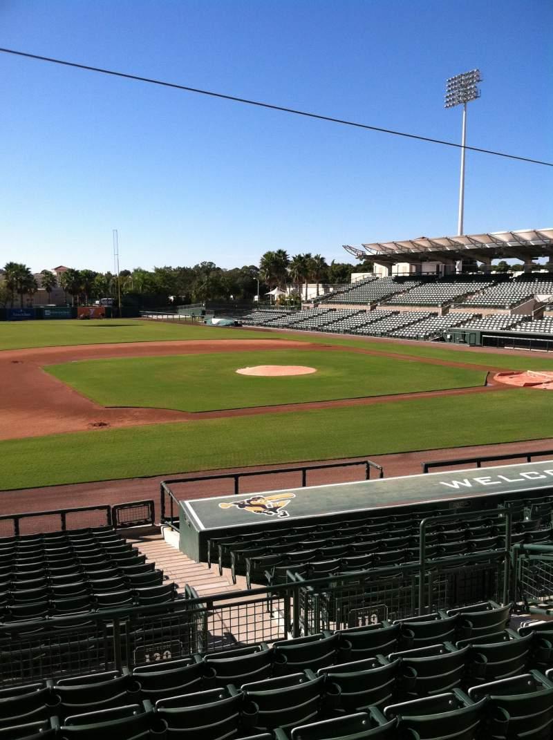 Vista sentada para Ed Smith Stadium Secção 219 Fila 7 Lugar 12