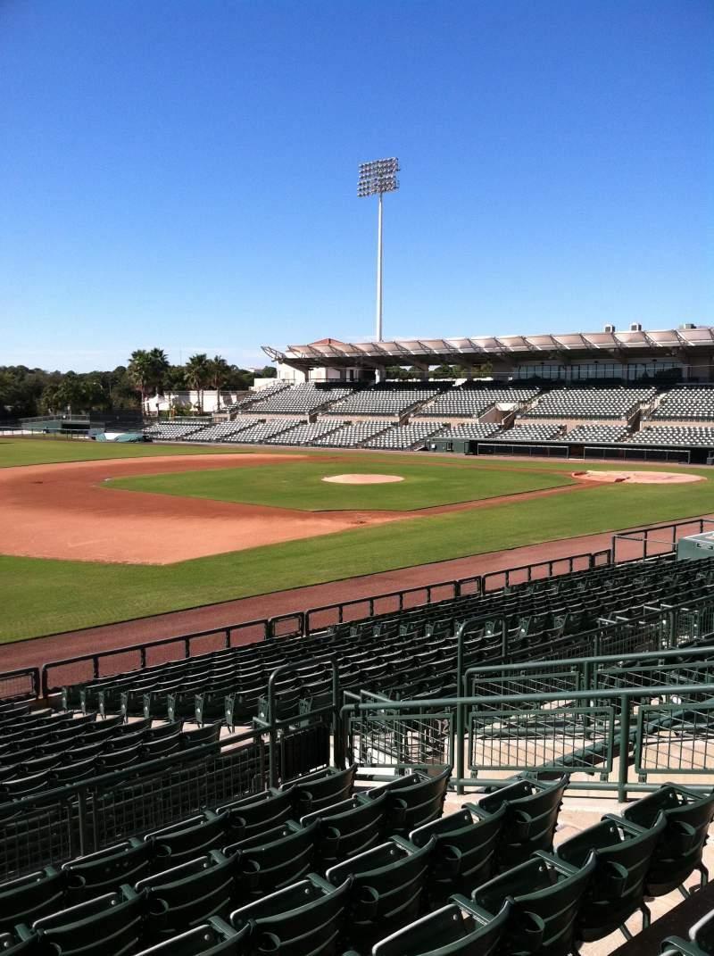 Vista sentada para Ed Smith Stadium Secção 223 Fila 7 Lugar 12