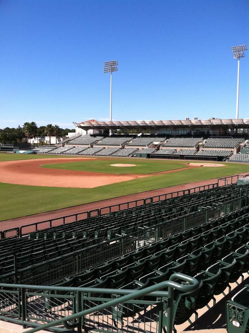 Vista sentada para Ed Smith Stadium Secção 225 Fila 7 Lugar 3
