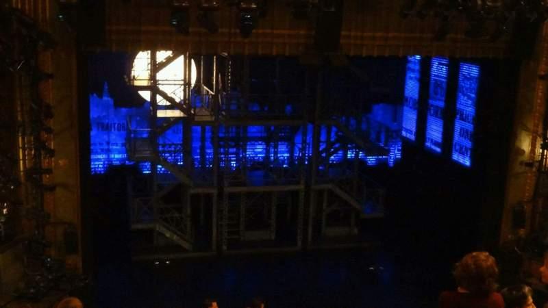 Vista sentada para Nederlander Theatre Secção Mezzanine R Fila N Lugar 114