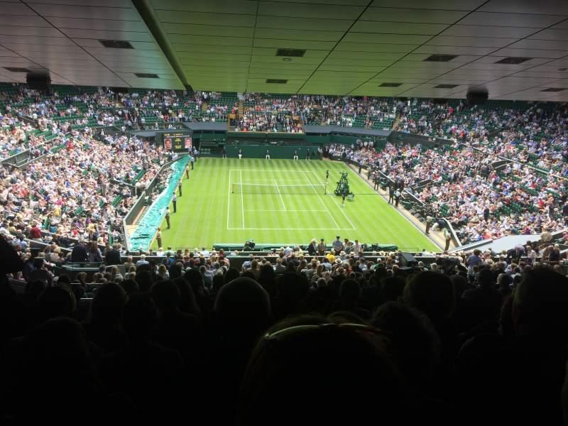 Vista sentada para Wimbledon, Centre Court Secção 511 Fila ZB Lugar 210